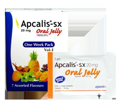 Apcalis SX Jelly (Tadalafil 20mg)